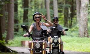 Camp Explora: Rallye de 90 minutes en GéoBike électrique pour 1, 2 ou 4 personnes chez Géo-Explora (jusqu'à 65 % de rabais)