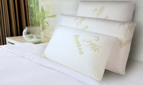 1, 2 ou 4 oreillers à mémoire de forme Bambou Sampur