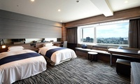 阪神地区を代表するハイクラスホテルで、優雅なひとときを≪ツインルーム/約40種類の和洋バイキング/1泊朝食付≫  @ホテルヒューイット甲...