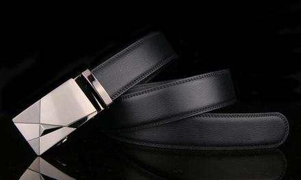 1 ou 2 ceintures homme 100% cuir Armando à fermeture automatique et boucle ajustable