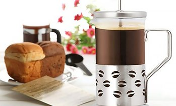11-Ounce Borosilicate Glass French Coffee Press and Tea Maker