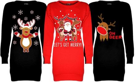 Be Jealous Christmas Mini Sweater Dress