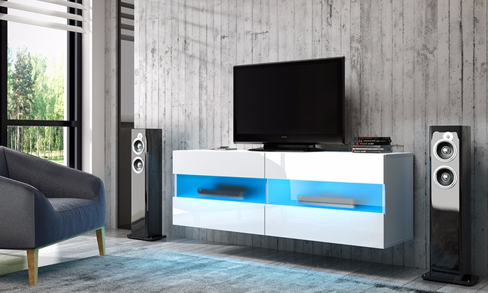 meuble tv led suspendu groupon shopping. Black Bedroom Furniture Sets. Home Design Ideas