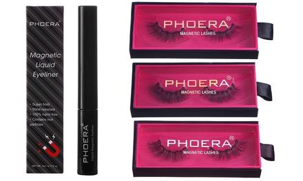 1x oder 2x Phoera Magnetischer Liquid Eyeliner und magnetische Wimpern nach Wahl