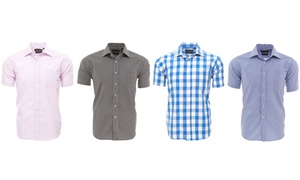 Alberto Cardinali Men's Slim Fit Short Sleeve Shirt