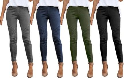1 o 2 pantalones ajustados de cintura alta