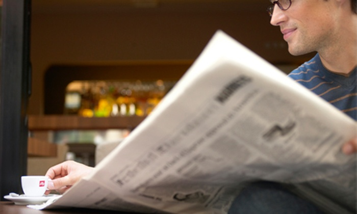 "Tampa Bay Times - Downtown St. Petersburg: 26-Week Thursday–Sunday or Full-Week Subscription to ""Tampa Bay Times"" (Up to 72% Off)"