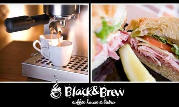 Black & Brew Coffee House & Bistro - Downtown: $5 for $10 Worth of Specialty Coffee, Sandwiches, and More at Black & Brew Coffee House & Bistro