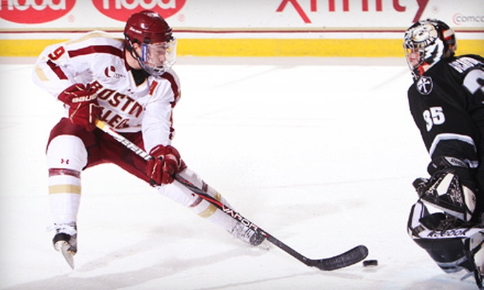 Boston College - Chestnut Hill: Two or Four Tickets to See Boston College in the Men's Hockey East Tournament at Conte Forum (Up to 56% Off)