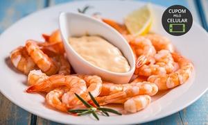 Restaurante Chapéu de Palha: Chapéu de Pescador – Água Verde: festival de camarão para 2 ou 4 pessoas