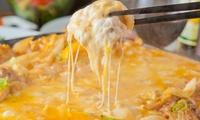 とろとろチーズを甘辛のお肉に絡めて≪soraチーズダッカルビコース(6品+飲み放題120分)/1・2・3・4名分より選択≫ @個室ダイニ...