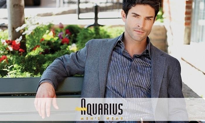 Aquarius Men's Wear - Briar Hill - Belgravia: $95 for $225 Worth of Custom-Tailored Men's Clothing from Aquarius Men's Wear