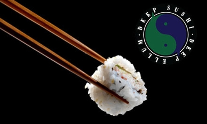 Deep Sushi - East Dallas: $20 for $40 Worth of Fresh Sushi and Drinks at Deep Sushi