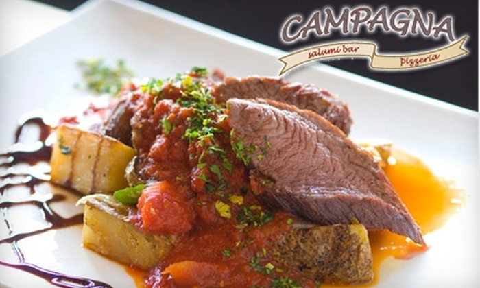 Campagna Salumi Bar and Pizzeria - Speer: $10 for $20 Worth of Authentic Italian Fare and Drinks at Campagna Salumi Bar and Pizzeria