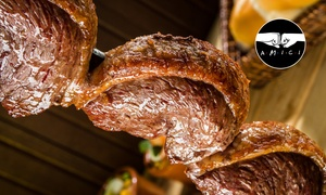 Las Palmas do Brazil: Rodizio brasiliano in formula all you can eat con buffet di antipasti, 8 tipi di carne e dolce