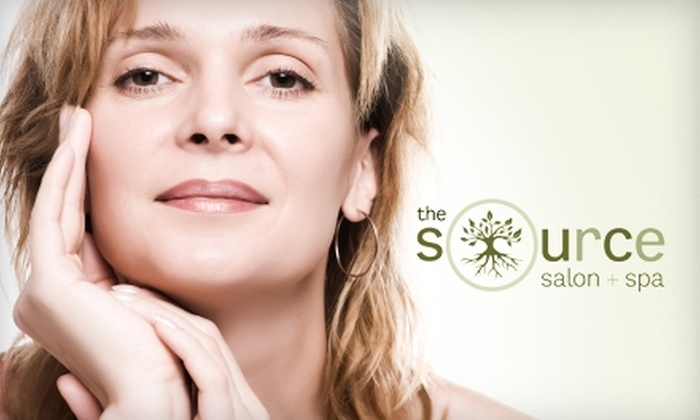 The Source Salon & Spa - Palo Verde: $30 for a Manicure and Pedicure ($60 Value) or $40 for an Anti-Aging Facial ($90 Value) at The Source Salon & Spa