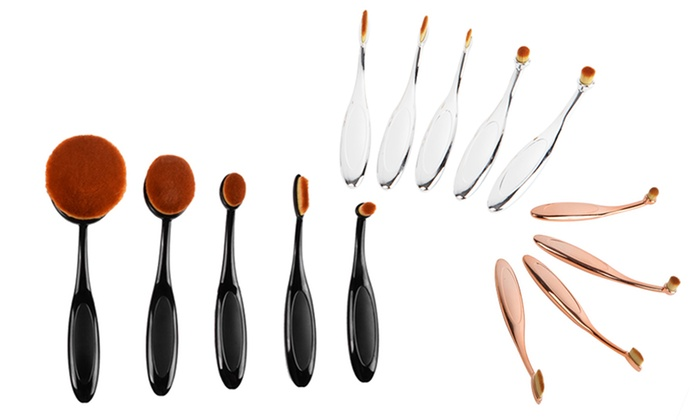 Oval Makeup Brush Set (10-Piece)