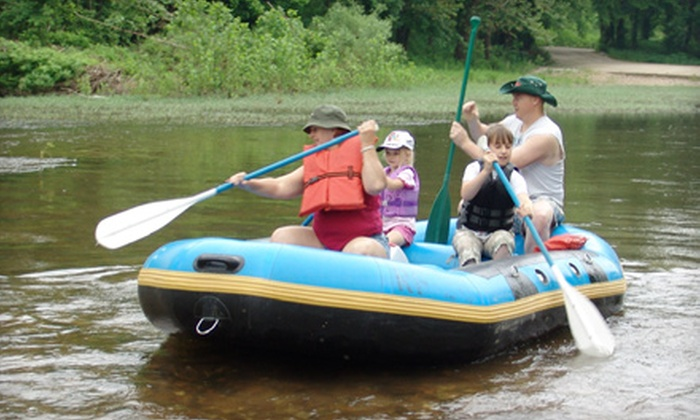 Riverfront Camp Canoe - Bennett Springs: Tube Rentals for Two or Raft Rentals for Up to Six on the Niangua River from Riverfront Camp Canoe in Lebanon