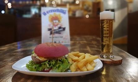 Menu con hamburger, dolce e birra a 22,90€euro