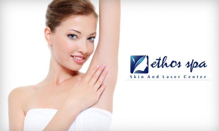 Ethos Spa - Summit: $99 for Three Laser Hair-Removal Treatments at Ethos Spa ($375 Value)