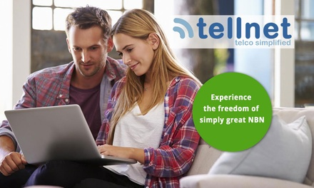 NBN or ADSL2+ Broadband: 12 Months $2 or 3 and 6 Months $3 from Tellnet