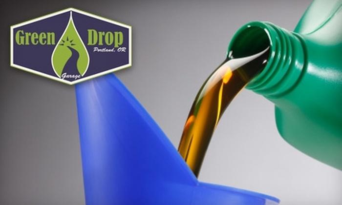 Green Drop Garage - Buckman: $18 for an Eco-Friendly Oil Change at Green Drop Garage ($40 Value)