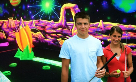 18 Holes of Glow-in-the-Dark Mini Golf for 4 People  - Space Golf in Orland Park