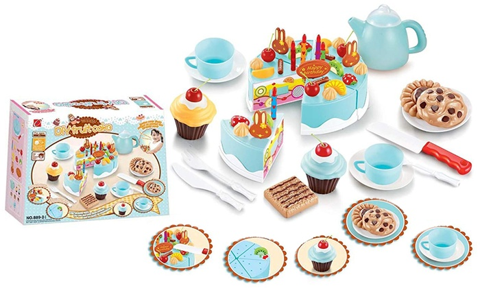 Remarkable Birthday Cake Pretend Play Set Groupon Personalised Birthday Cards Veneteletsinfo