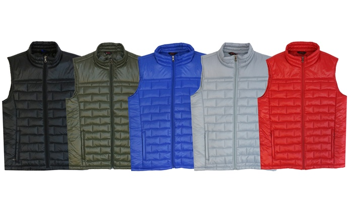Spire By Galaxy Men's Quilted Puffer Vest