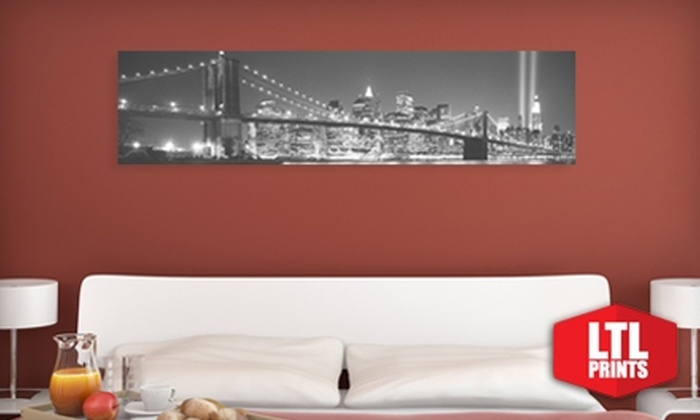 Larger Than Life Prints: $35 for a Panoramic Cityscape Wall Mural from LTL Prints ($84 Value)