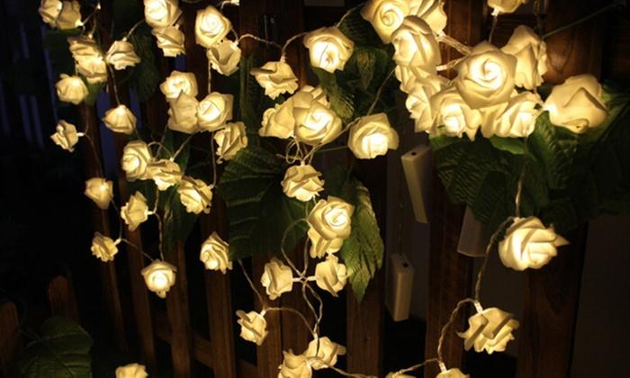 groupon goods global gmbh hasta 60 guirnaldas de luces led en forma de rosas desde - Guirnaldas De Luces