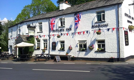 Cumbria: Double Room for Two with Breakfast and MainCourse Dinner at Outgate Inn