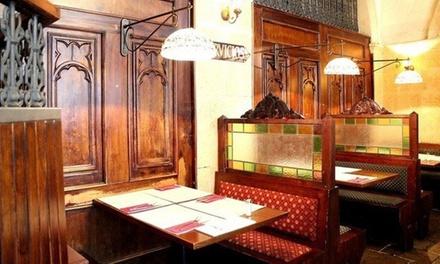 Menú premium para 2 o 4 con entrante, principal, postre y botella de vino o bebida desde 25,95 € en Monks