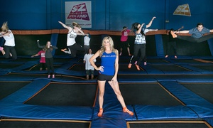 Sky Zone San Marcos: Two Jump Passes or 10-Person Birthday Party with Pizza and Soft Drinks at Sky Zone San Marcos (Up to 53% Off)