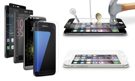 Vetro temperato per smartphone, disponibile per iPhone, Galaxy, LG, Sony, Huawei da...