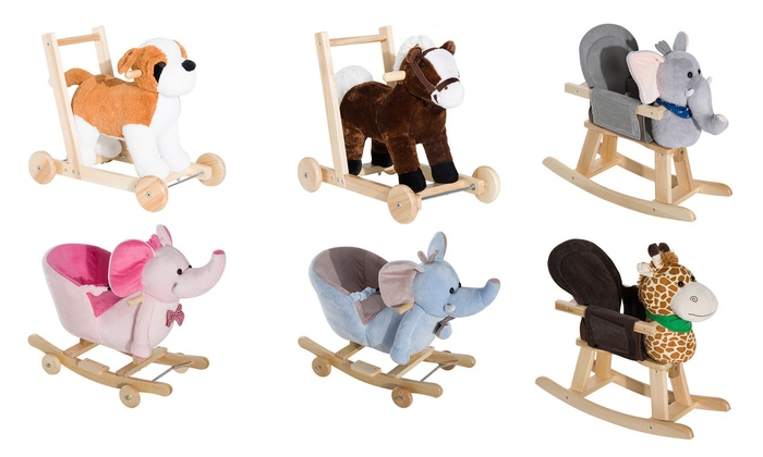 Kid's Ride-On Rocking Animal Toy in Choice of Design for £29.99