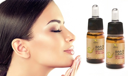 Fino a 6 flaconi di concentrato bava di lumaca biologica pura 100% 20 ml Efory Cosmetics