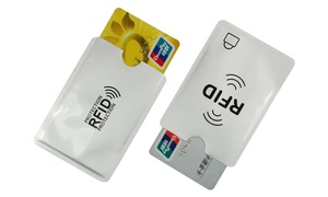 Lot de 2 protège-cartes RFID