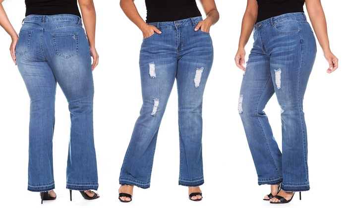 58% Off on VIP Women's Plus-Size Jeans | Groupon Goods
