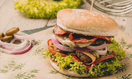 Menú para 2 personas con hamburguesa, acompañamiento, bebida y postre por 15,99 € en Kawamba