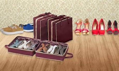 1 o 2 organizadores de zapatos portátil