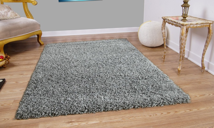 Up To 67 Off Modern Shaggy Rug Groupon