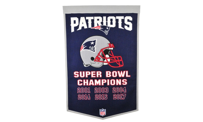 the latest 363b6 ac7a4 NFL New England Patriots Super Bowl 52 Champions Banners ...