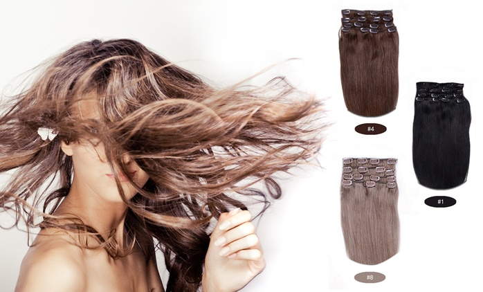 $49 for One Seven-Piece Set of Human Hair Extensions in 9 Shades, or $89 for Two Sets