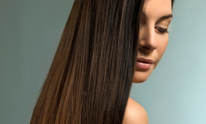 Dye Hair Salon - Downtown Royal Oak: Haircut with Conditioning and Highlights or Keratin Treatment with Color and Blowout at Dye Hair Salon (Up to 73% Off)