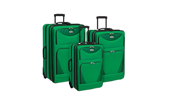 Travelers Club Sky-View Expandable Soft-Sided Spinner Luggage Set: Travelers Club Sky-View Expandable Soft-Sided Spinner Luggage Set (3-Piece)
