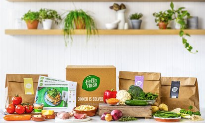 image for Recipe Box Subscription: One or Two Weeks for Two or Four People from HelloFresh (Up to 66% Off)