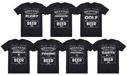 Weekend Forecast Mens Cotton T-Shirts