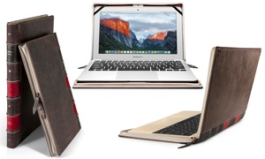 BookBook Vintage Protective Leather Sleeve for MacBook