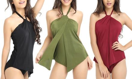 1, 2 ou 3 maillots 1 pièce effet drapé Briana, coloris et tailles au choix, dès 24,90 €, livraison offerte